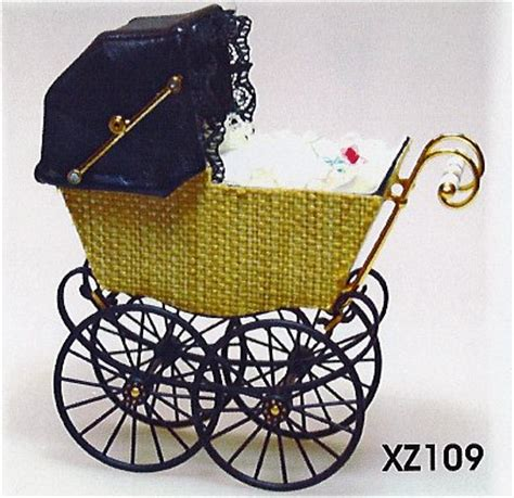 dolls house prams antique wicker effect dolls house pram light brown heidi ott xz109