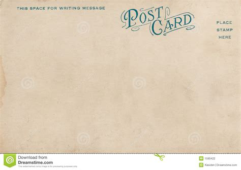 great paper post cards template blank vintage postcard 1900 s stock photo image of cent
