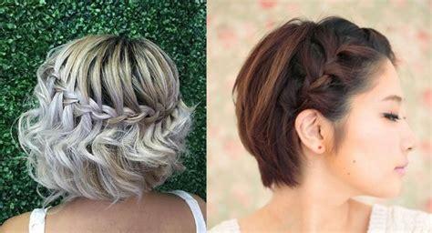 foto de peinado con pelo mediano trenzas para cabello corto 10 ideas de peinados para copiar