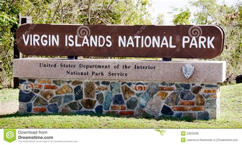 design art signs saint john virgin islands national park sign editorial photo image