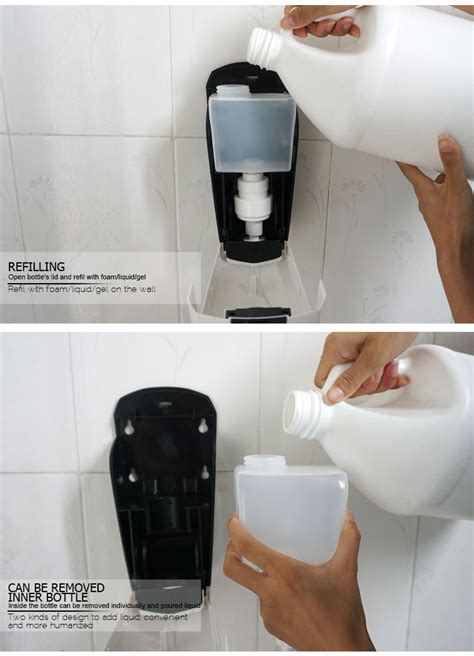 toilet soap dispenser 500ml hand alcohol spray soap dispenser wall toilet seat