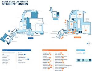 Boise State University Map by Student Union Map Student Union