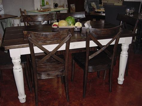 Handmade Farm Tables - handmade in america farm table with country chic