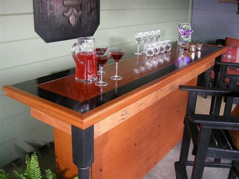 making wood bar top build a bar using a reclaimed door for the top hgtv