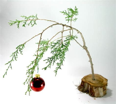 make a charlie brown christmas tree prep the branch
