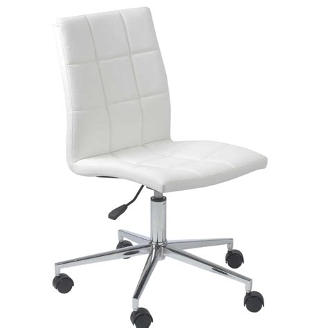 White Modern Desk Chair Office Chairs White Leather Office Chairs