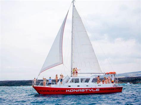 catamaran cruise kona kona style sunset sail hawaii discount