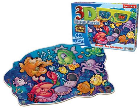 Floor Puzzle by 3d Sneaky Puzzles Singin Sea Creatures