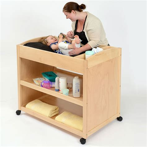 Mobile Wooden Baby Changing Unit Mobile Baby Changing Table