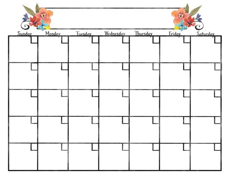 pretty calendar template 2017 calendars for teepee