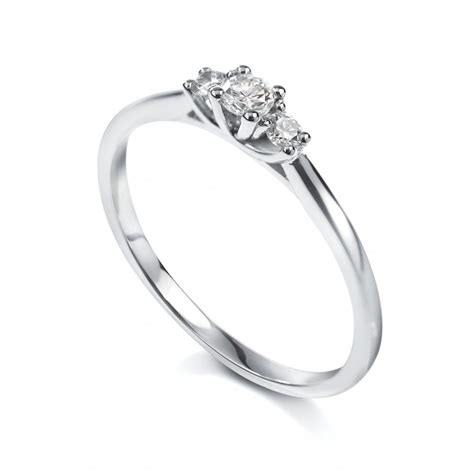 18ct white gold trilogy ring from bensons of