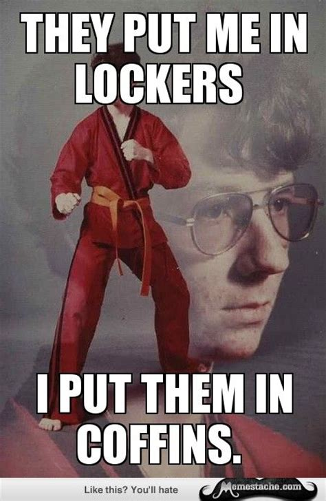 Karate Kyle Memes - karate kyle they put me in lockers meme shuffle