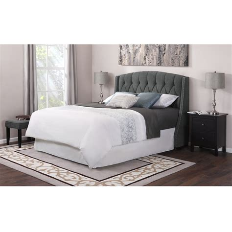 modern king size upholstered wingback headboard with