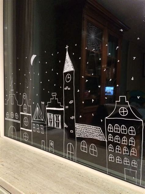 Fensterdeko Weihnachten Kreide by Familie Fliegt Mit Schlitten Dr 252 Ber
