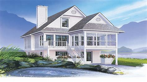 narrow waterfront house plans coastal house plans narrow lots waterfront home plans