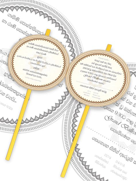 Wedding Invitation Card Sinhala by By Hima Whitley Sri Lankan Sesatha Wedding Invitation Design