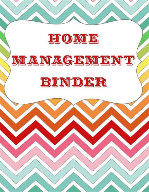 home management binder templates free let s get organized home management binder free