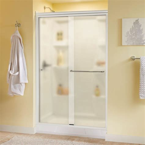 48 Glass Shower Door by Delta Simplicity 48 In X 70 In Traditional Sliding