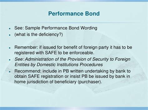 performance bond template prc contract principles and risk management in