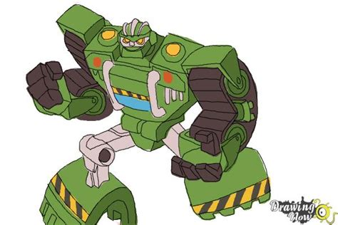 how to a rescue how to draw boulder from transformers rescue bots drawingnow