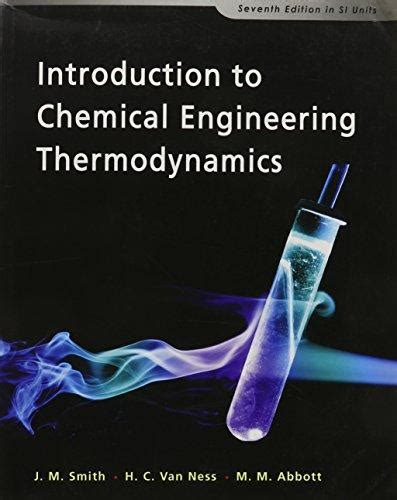 introduction  chemical engineering thermodynamics abebooks