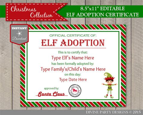 printable elf on the shelf certificate 40 fun creative christmas elf on the shelf printables