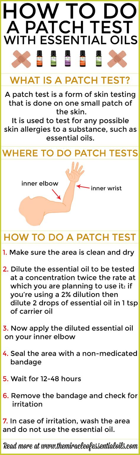 patch test how to perform a patch test the miracle of essential oils