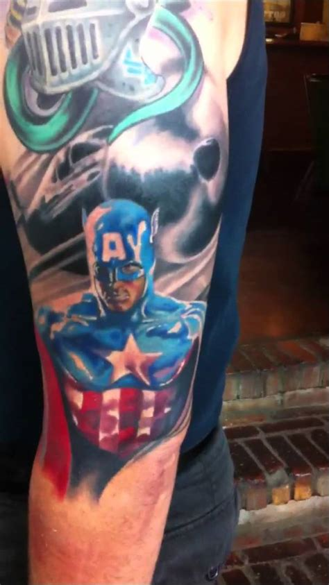 captain america tattoos captain america tattoos designs ideas and meaning
