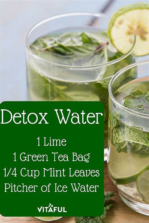 Detox Water Facts by Green Tea Detox Water Recipe For Weight Loss Stress