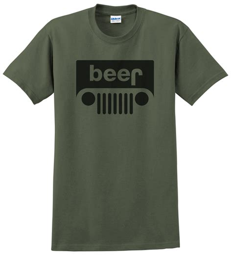 jeep beer shirt all things jeep beer jeep logo men s t shirt
