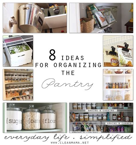 ideas for organizing kitchen pantry 8 ideas for organizing the pantry clean