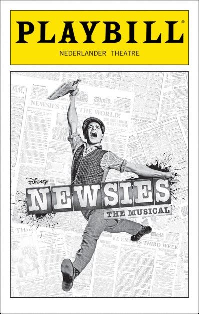 Newsies Broadway Nederlander Theatre Tickets And Discounts Playbill Playbill Program
