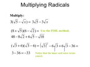 adding subtracting multiplying and dividing radicals
