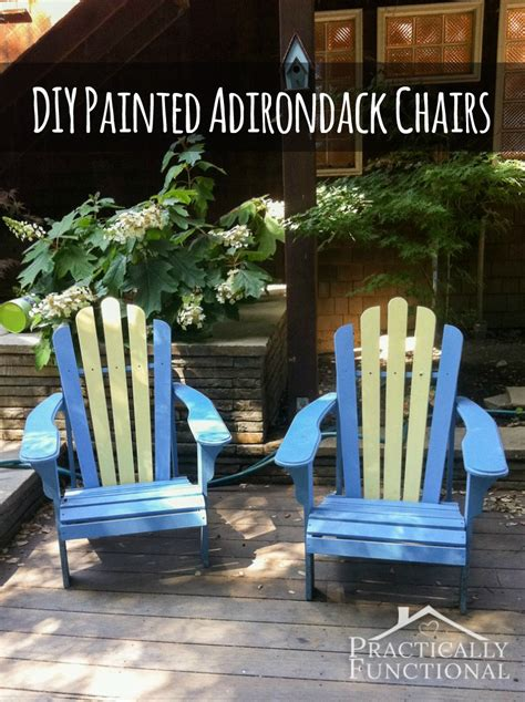diy painted adirondack chairs practically functional