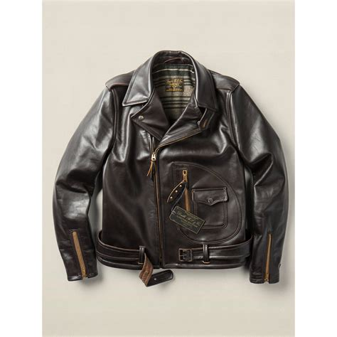 lyst rrl limited edition leather jacket in brown for