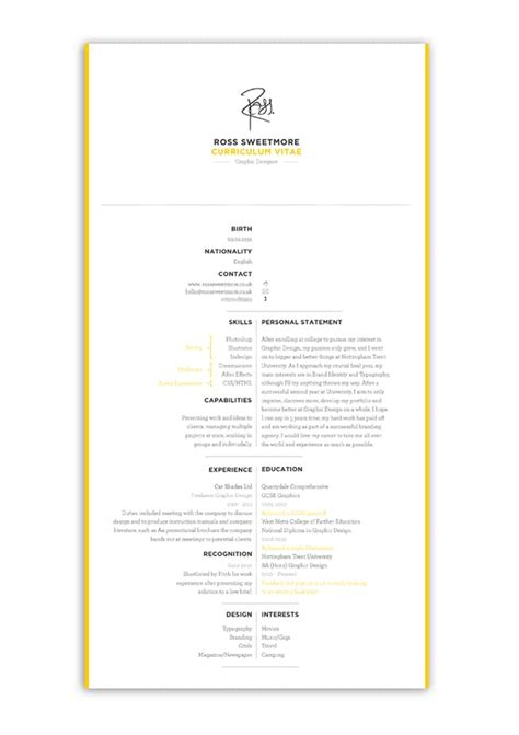 Resume Design Inspiration by 5 Cool Design Ideas For Creative Resumes