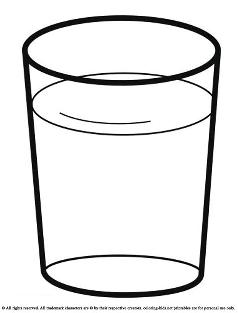 drink a glass of water drinks coloring pages pinterest
