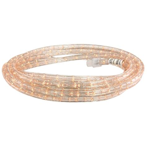 commercial electric 48 ft clear incandescent rope light