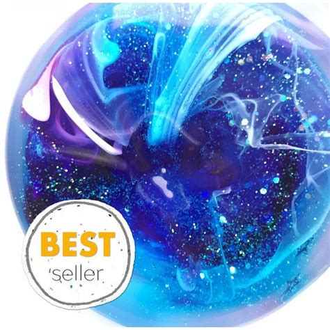 Clear Galaxy Slime By E C S glitter slime galaxy slime clear slime stretchy