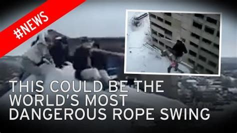 how to build a russian swing terrifying moment daredevil teenagers jump off high rise