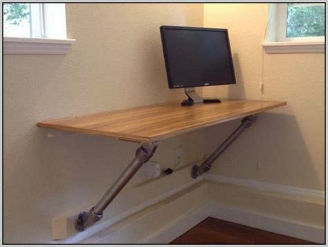 Diy Hanging Desk Best 25 Wall Mounted Computer Desk Ideas On Folding Computer Desk Small Spaces And