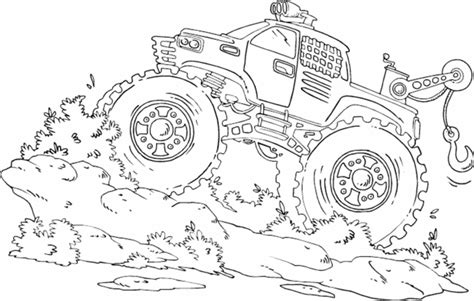 bigfoot monster truck coloring pages printable kids