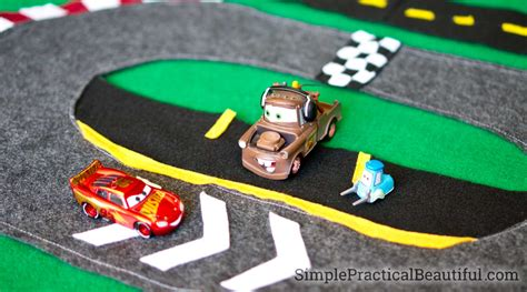 lighting mcqueen race track cars 3 felt race track simple practical beautiful