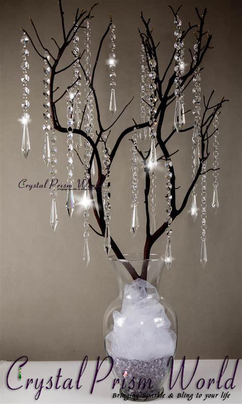 10Pc, Hanging Icicle Crystal Wedding Pendant   #W9875