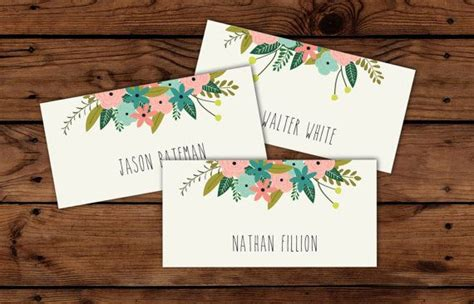 free printable place cards for wedding reception 9 best images of printable place cards for wedding