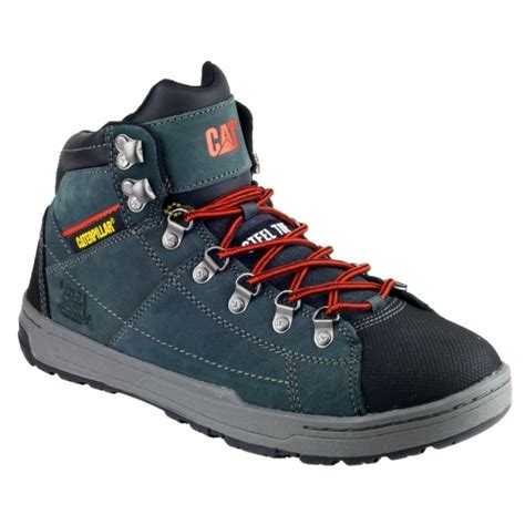 Caterpillar Safety Boots Shadow caterpillar brode high top safety boots trainers grey