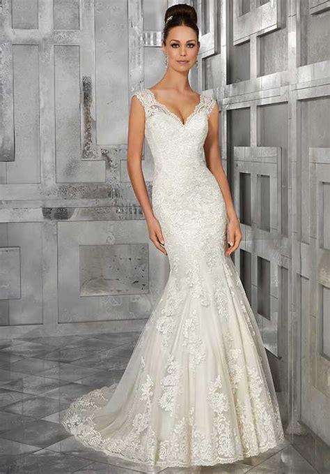 Mermaid Style Wedding Dresses by V Neck Wedding Dresses