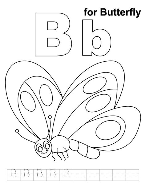 Coloring Page Letter B by Letter B Coloring Sheets Az Coloring Pages