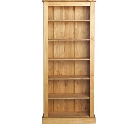buy collection wide bookcase solid pine