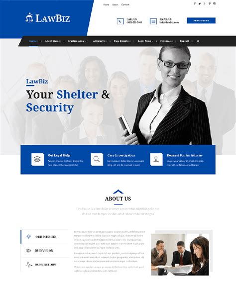 8 Of The Best Bootstrap Website Templates For Lawyers Attorneys Law Firms Down Attorney Website Templates